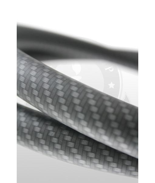 Шланг силиконовый матовый/карбон