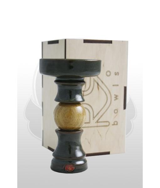 Чаша для кальяна RS Bowls (Украина) SP с деревянной круглой вставкой